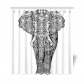 InterestPrint Black and White African Elephant Home Decor,Ethnic Aztec Tribal Indian Mandala Polyester Fabric Shower Curtain Bathroom Sets