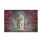 InterestPrint Landscape Nature Scenery Wall Art Home Decor, Animal Tiger Cotton Linen Tapestry Wall Hanging Art Sets