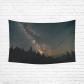 InterestPrint Night Sky Wall Art Home Decor, the Milky Way Trees Forest Cotton Linen Tapestry Wall Hanging Art Sets