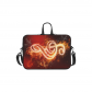 InterestPrint Classic Personalized Music Note Red on Fire 13  - 13.3  /Macbook Pro Air 13 Inch Laptop Sleeve Case Bags Skin Cover for Lenovo, GW, Acer, Asus, Dell, Hp, Sony, Toshiba