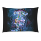 InterestPrint Home Bathroom Decor Underwater Art Jellyfish Pillowcases Decorative Pillow Cover Case Shams Standard Size for Couch Bed-Black Colorful-20x30 Inch-Watercolor Jellyfish Underwater Sea