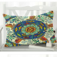 InterestPrint Home Bathroom Decor Tropical Mandala Fish Pillowcases Decorative Pillow Cover Case Shams Standard Size for Couch Bed-Blue Colorful-20x30 Inch-Ethnic Mandala Doodle Fish Ship Wave