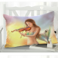 InterestPrint Home Bathroom Decor Watercolor Mermaid Sunset Pillowcases Decorative Pillow Cover Case Shams Standard Size for Couch Bed-Colorful-20x30 Inch-Vintage Mermaid Violin under Sunset Glow