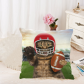 InterestPrint Funny Cat Football Home Decor, Green Grass Soft Cotton Pillowcase 18 x 18 Inches - Cat Playing American Football Pillow Cover Case Shams Decorative
