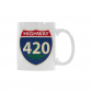 InterestPrint-  Highway 420, pot, grass, weed - 11 OZ Coffee Mugs
