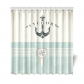 InterestPrint Artsy Shower Curtain Ocean Decor, Nautical Anchor Sailor Sea Directions Shower Curtain